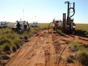 English: A drill rig in the Pilbara region of Western Australia.