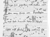 Score of the Bogurodzica from 1407
