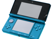 English: A Nintendo 3DS in Aqua Blue, photo taken during the 3DS launch event in NYC.
