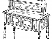 English: Illustration of a dresser.