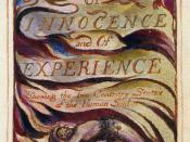 William Blake's frontispiece for Songs of Innocence and of Experience
