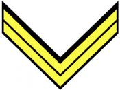 Confederate Corporal insignia in cavalry yellow
