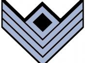 Confederate First Sergeant Rank Insignia in Infantry blue