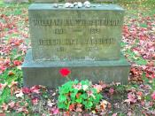 English: Grave of abolitionist and publisher William Lloyd Garrison (and wife) located at Forest Hills Cemetery in Jamaica Plain, Massachusetts.