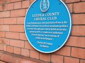 Leeds Liberal Club plaque