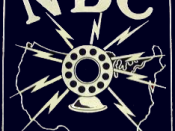 Logo for the sister NBC Blue Network, noted by the different background color. NBC Blue would utilize this logo until their 1942 sale.