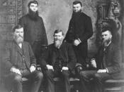 The five Studebaker brothers—founders of the Studebaker Corporation. Left to right, (standing) Peter and Jacob; (seated) Clem, Henry, and John M.