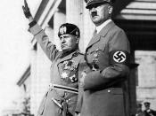 Mussolini (left) and Hitler sent their armies to North Africa and into Egypt against the British