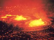 English: http://libraryphoto.cr.usgs.gov/cgi-bin/show_picture.cgi?ID=ID.%20HVO%20%2014ct Hawaii Volcanoes National Park. May 1954 eruption of Kilauea Volcano. Halemaumau fountains. Photo by J.P. Eaton, May 31, 1954.