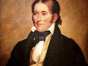 English: Oil on canvas portrait of Davy Crockett; original size without frame 76.2×63.5 cm.