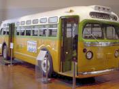 The bus on which Rosa Parks was arrested triggering the Montgomery Bus Boycott