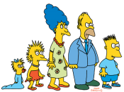 The Simpsons when made their first TV appearance on The Tracey Ullman Show in 1987.