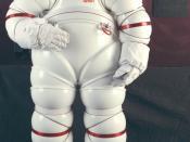 English: NASA Ames AX-5 rigid spacesuit. Español: Traje espacial rígido AX-5 de la NASA Galego: Traxe espacial ríxido AX-5 da NASA