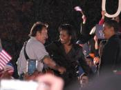 English: Bruce Springsteen, Michelle Obama and Barack Obama Deutsch: Bruce Springsteen, Michelle Obama, Barack Obama