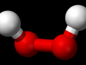 Ball-and-stick model of the hydrogen peroxide molecule