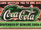 Ticket for free glass of Coca-Cola, believed to be the first coupon ever.