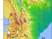 Topographic map of Kenya. Created with GMT from public domain GLOBE data.