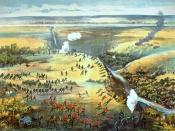 Contemporary lithograph of the Battle of Fish Creek.