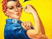 We Can Do It poster for Westinghouse, closely associated with Rosie the Riveter, although not a depiction of the cultural icon itself. Pictured Geraldine Doyle (1924-2010), at age 17.