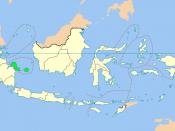 Location of Bangka–Belitung in Indonesia