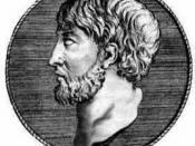 English: Anaximenes of Miletus, presocratic philosopher. Français : Anaximène de Milet, philosophe présocratique.