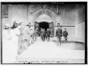 Haldane leaving gymnasium, West Point  (LOC)