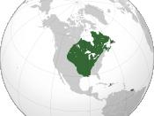 English: map of New France Français : Carte de la Nouvelle-France
