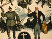 British Empire Union World War I poster from 1918, titled