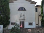Oratorio dell'Erta - Facciata della cappella situata nel Comune di Montelupo Fiorentino