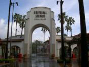 Universal Studios entrance in Los Angeles.