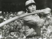 English: A professional baseball player from Japan, Fumio Fujimura. 日本語: 日本のプロ野球選手、藤村富美男。