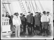 Captain Lorenz Peters with officers and crew of MAGDALENE VINNEN