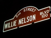 English: Willie Nelson Boulevard sign.