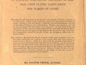 English: Title page of a 1830 copy of The Book of Mormon: An Account Written by the Hand of Mormon upon Plates Taken from the Plates of Nephi
