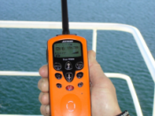 Handheld wireless radios such as this Maritime VHF radio transceiver use electromagnetic waves to implement a form of wireless communications technology.