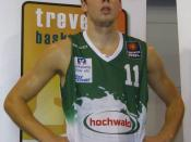 English: Oskar Faßler, Basketball player from Germany