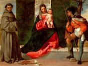 English: Giorgione: Madonna and Child with St Anthony of Padua and St Roch