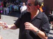 English: Mike Scully at the Simpsons Premiere in Springfield, Vermont