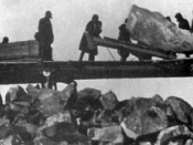 Prisoner labour at the construction of the White Sea – Baltic Canal, 1931-1933.