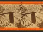 Uncle Jack and his home, from Robert N. Dennis collection of stereoscopic views 3