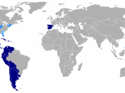 Countries and regions where the Spanish language is spoken without official recognition, or where Spanish-based créole languages are spoken with or without official recognition. :NOTE: For detailed information about the sources taken to make the map, see