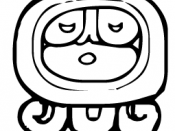 A modern pictogram of the Mayan god Ahau, after which the 20th day of the tzolkin cycle was named
