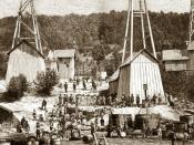 English: postcard, galicia 1881, Polski: Pierwsze szyby naftowe w Galicji (pocztówka 1881, litografia), autor nieznany.