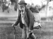 Elderly swagman.
