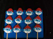 papa smurf cookie