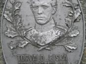 English: Memorial for Torvald Fiskå in Fiskå, Rogaland, Norway