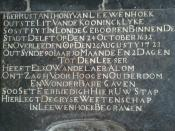 English: Tombstone of Antonie van Leeuwenhoek in Delft.