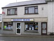English: McKelvey Travel, Omagh. This travel agent is located on the Kevlin Road