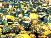 English: The Valley of the Drums, a toxic waste dump in northern Bullitt County, Kentucky. This site was one of the reasons the the U.S. Superfund law was enacted.