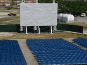 The Downtown Lyceum, one of Guantanamo's two outdoor movie venues